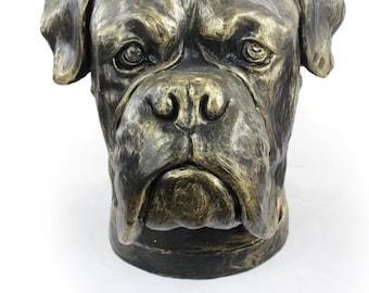 Boxer (uncropped), dog big head statue, limited edition, ArtDog