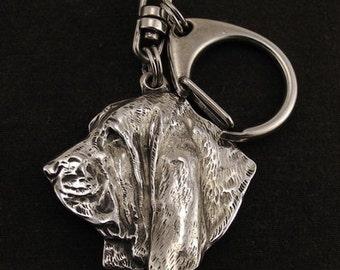 Basset Hound, dog keyring, keychain, limited edition, ArtDog . Dog keyring for dog lovers