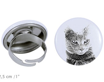 Ring with a cat -Chartreux