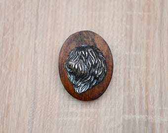 Polish Lowland Sheepdog, dog clipring, dog show ring clip/number holder, limited edition, ArtDog