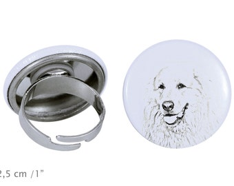 Ring with a dog- Great Pyrenees