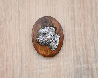 Border Terrier, dog show ring clip/number holder, limited edition, ArtDog