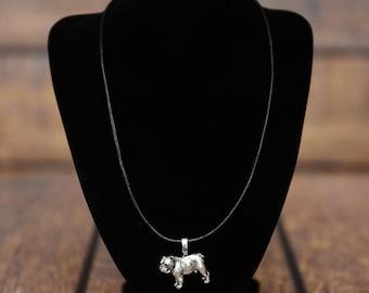 Bulldog, English Bulldog , dog necklace, limited edition, extraordinary gift, ArtDog