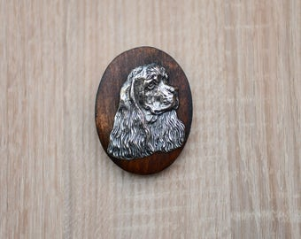 American Cocker Spaniel, dog show ring clip/number holder, limited edition, ArtDog