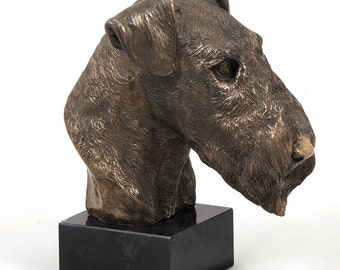 Airedale Terrier, dog marble statue, limited edition, ArtDog. Made of cold cast bronze. Perfect gift. Limited edition