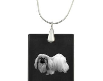Pekingese, Dog Crystal Pendant, SIlver Necklace 925, High Quality, Exceptional Gift, Collection!