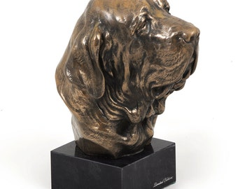 Fila Brasileiro, dog marble statue, limited edition, ArtDog. Made of cold cast bronze. Solid, perfect gift. Limited edition.