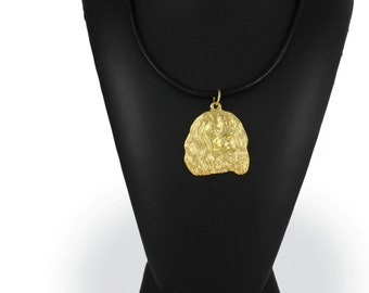 Cavalier King Charles Spaniel, millesimal fineness 999, dog necklace, limited edition, ArtDog