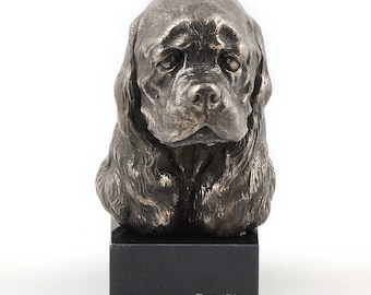American Cocker Spaniel, dog marble statue, limited edition, ArtDog. Made of cold cast bronze. Solid, perfect gift. Limited edition.