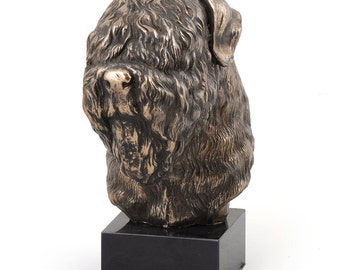 Black Russian Terrier, dog marble statue, limited edition, ArtDog. Made of cold cast bronze. Solid, perfect gift. Limited edition.
