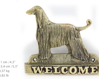 Afghan Hound, dog welcome, hanging decoration, limited edition, ArtDog