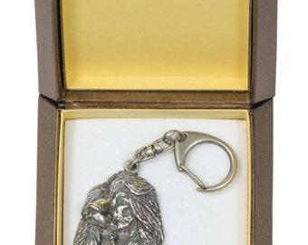 NEW, Afghan Hound, Ogar Afgan, Tazhi Spay, dog keyring, key holder, in casket, limited edition, ArtDog . Dog keyring for dog lovers