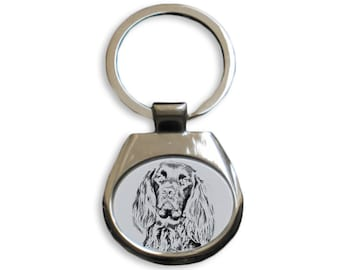 German Longhaired Pointer - NEW collection of keyrings with images of purebred dogs, unique gift, sublimation . Dog keyring for dog lovers