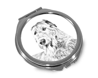 Irish Wolfhound - Pocket mirror with the image of a dog.