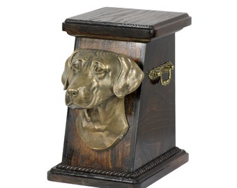 Urn for dog's ashes with a Rhodesian Ridgeback, ART-DOG