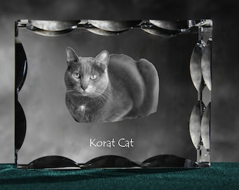 Korat , Cubic crystal with cat, souvenir, decoration, limited edition, Collection