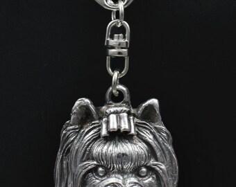 York Terrier, dog keyring, keychain, limited edition, ArtDog . Dog keyring for dog lovers