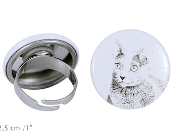Ring with a cat -Russian Blue
