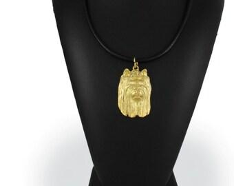 York Terrier, millesimal fineness 999, dog necklace, limited edition, ArtDog