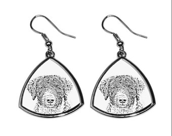 Spanish water dog- NEW collection of earrings with images of purebred dogs, unique gift