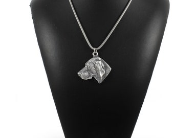 NEW, Weimarner, dog necklace, silver cord 925, limited edition, ArtDog