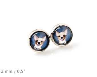 Chihuahua. Pet in your ear. Earrings. Photojewelry. Handmade.