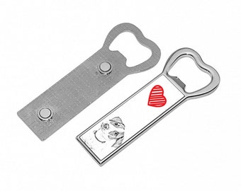 Jack Russell Terrier  - Metal bottle opener with a magnet for the fridge with the image of a dog. Collection