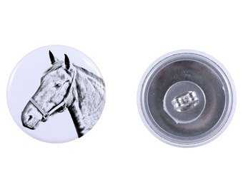 Magnet with a horse Danish Warmblood