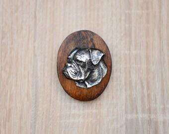 American Bulldog, dog show ring clip/number holder, limited edition, ArtDog