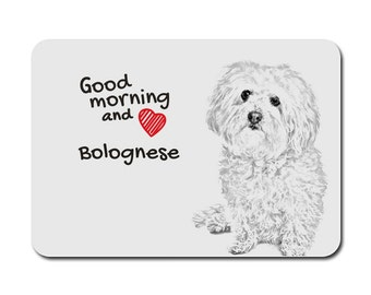 Bolognese , A mouse pad with the image of a dog. Collection!