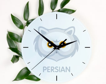 A clock with a Persian cat. A new collection with the cute Art-Dog cat
