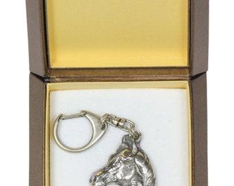 NEW, Arabian Horse, horse keyring, key holder, in casket, limited edition, ArtDog