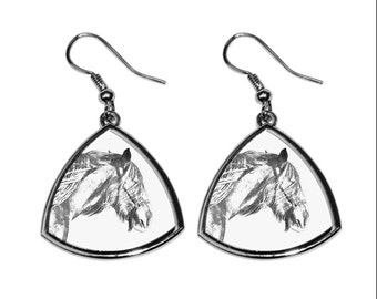 Shire horse, collection of earrings with images of purebred horses, unique gift. Collection!