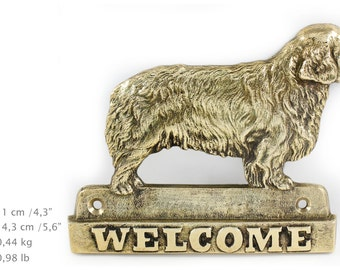 Clumber Spaniel, dog welcome, hanging decoration, limited edition, ArtDog