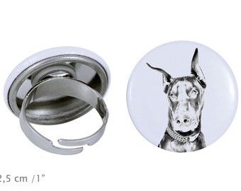 Ring with a dog - Dobermann