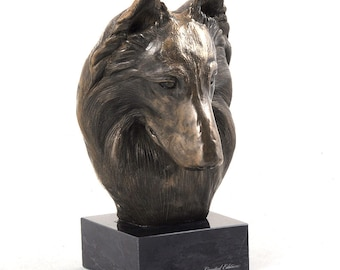 Belgian Shepherd, dog marble statue, limited edition, ArtDog. Made of cold cast bronze. Solid, perfect gift. Limited edition.
