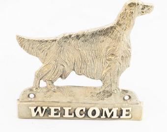 Irish Setter, dog welcome, hanging decoration, limited edition, ArtDog