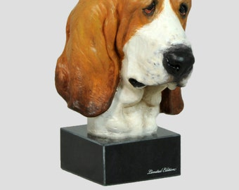 Basset Hound, dog marble statue, painted, limited edition, make your own statue, ArtDog
