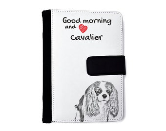 Cavalier King Charles Spaniel- Notebook with the calendar of eco-leather with an image of a dog! NEW COLLECTION!