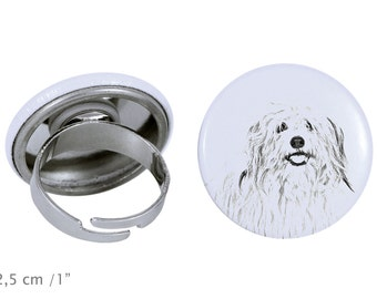 Ring with a dog- Coton de Tuléar