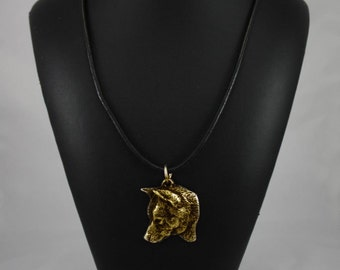 Shiba Inu, millesimal fineness 999, dog necklace, limited edition, ArtDog