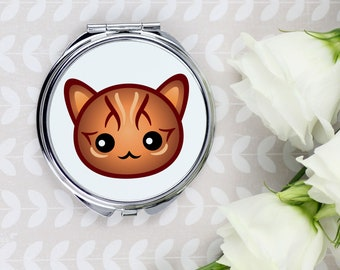 A pocket mirror with a Bengal cat. A new collection with the cute Art-Dog cat