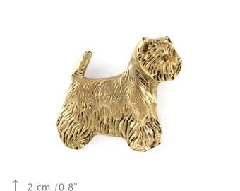 West Highland White Terrier, Poltalloch Terrier Roseneath Terrier, millesimal fineness 999, dog pin, limited edition, ArtDog