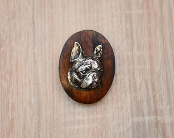 Boston Terrier, dog show ring clip/number holder, limited edition, ArtDog