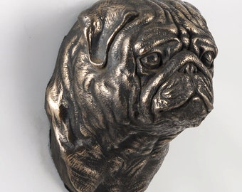 Pug, dog hanging statue, limited edition, ArtDog