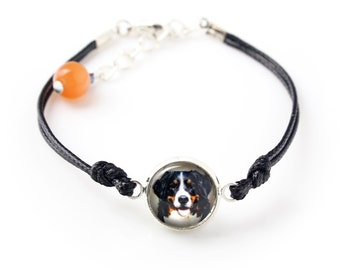 Bernese Mountain Dog. Bracelet for people who love dogs. Photojewelry. Handmade.