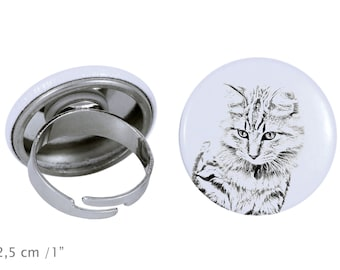 Ring with a cat -American Bobtail