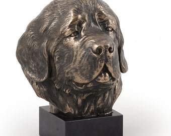 Newfoundland, dog marble statue, limited edition, ArtDog. Made of cold cast bronze. Perfect gift. Limited edition