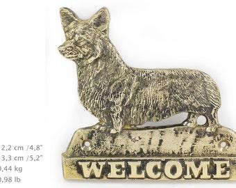 Pembroke Corgie, dog welcome, hanging decoration, limited edition, ArtDog