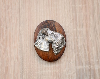 Kerry Blue Terrier, dog clipring, dog show ring clip/number holder, limited edition, ArtDog